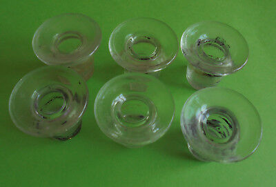 Lot De 6 Anciens Encriers D Ecoliers En Verre Graves T-Y Depose France