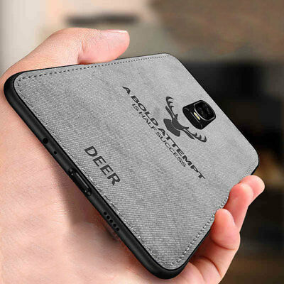 Ultra Slim Shockproof Fabric TPU Bumper Back Case Cover for One Plus 6 6T 5 Skin