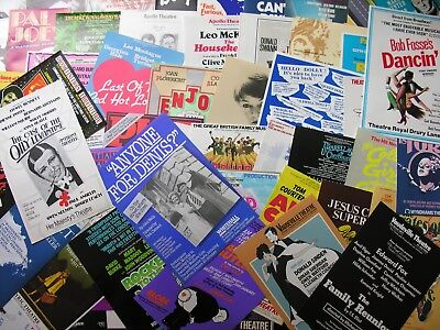 1980s 50+ THEATRE FLYERS Job Lot Collection London West End All Different Listed