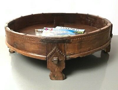 Antique / Vintage  Indian Furniture. Spice Grinding Chakki Table. Coffee Table?