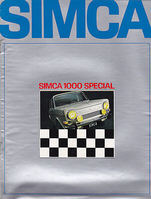 Catalogue publicitaire SIMCA 1000 Special