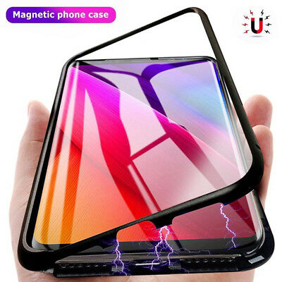 Magneto Magnetic Metal Glass Case For Samsung Galaxy S8 Plus S9 Plus Note 8