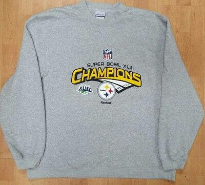NFL Pittsburgh Steelers Super Bowl XLIII Reebok Men's XL Sweatshirt