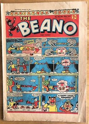 THE BEANO COMIC DECEMBER 22nd 1956 CHRISTMAS ISSUE No 753 VG CONDITION