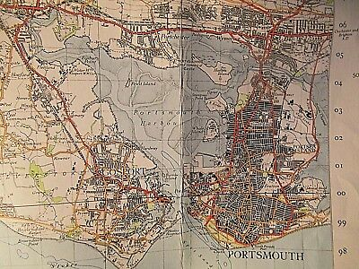 Solent-Southampton-Portsmouth:isle Of Wight-Hants-War Decade Ordnance Map 1945-7