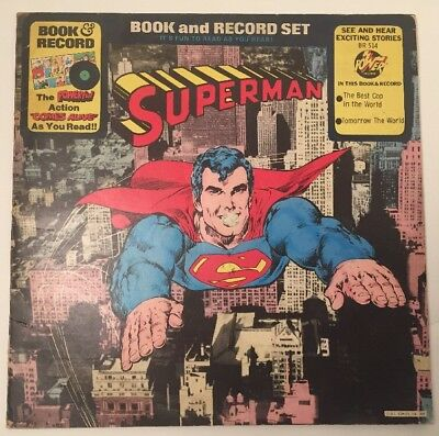 Superman Book and Record Set - Power Records BR-514 Stereo 1976 Vinyl