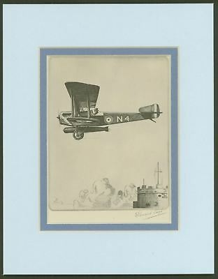 Sopwith Cuckoo - Vintage Collotype Print by Howard Leigh  Ready To Frame