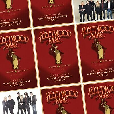 FLEETWOOD MAC An Evening With… 2018/2019 World Tour PHOTO Print POSTER UK US EU
