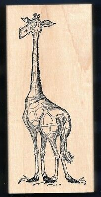 """GIRAFFE 4.75"""" TALL Adorable Animal NEW  X-Large ART IMPRESSIONS RUBBER STAMP"""