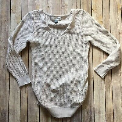 Old Navy Maternity Beige Side Ruched Sweater Medium
