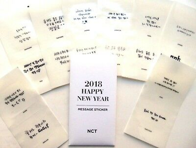 NCT Official Message Sticker Happy New Year 2018 Kpop K-pop UK
