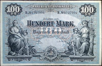 Germany Empire banknote - 100 hundert mark (goldmark) - year 1900 - Bavaria