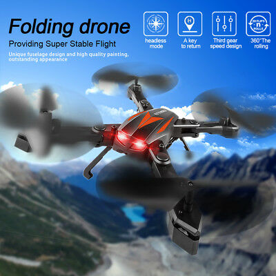 Foldable Mini Drone Camera Headless WIFI Control RC Quadcopter Aircraft w/Remote