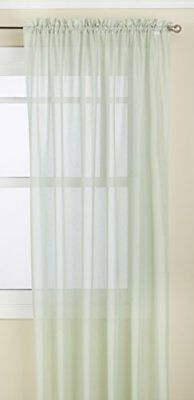 Lorraine Home Fashions Reverie Tailored Window Panel, 60 by 84-Inch, Mint