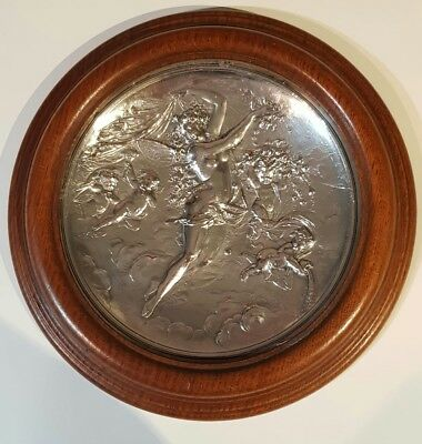 Exquisite Morel Ladeuil silver plate charger with signature