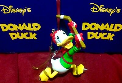 Disney President's Edition Donald Duck Hockey Puck Mickey Mouse Grolier Ornament