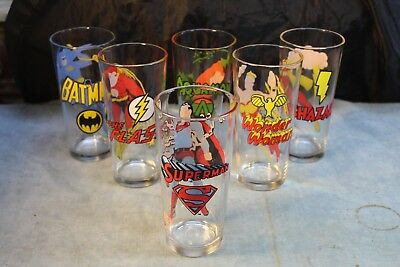 6 Pepsi Collector Series Superhero Collector Glasses Nr