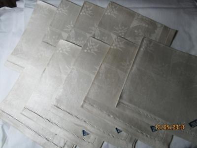 Vintage Linen Damask Napkins Set of 8 NOS NWT Czechoslovakia Lily of the Valley