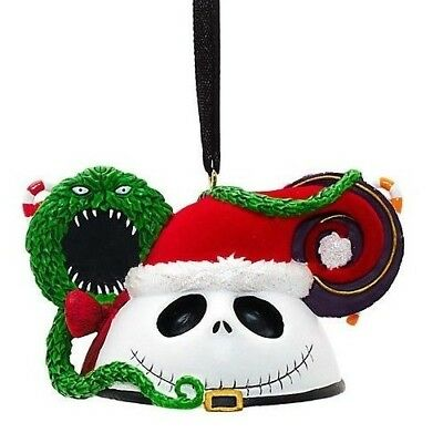 Disney Jack Skellington Mickey Ears Nightmare Before Christmas Ornament Bauble