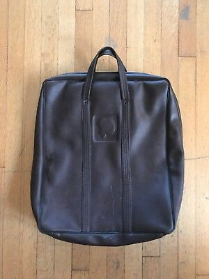 Rare Apple II Computer Leather Carrying Case 1970's Bag Brown USA Europlus