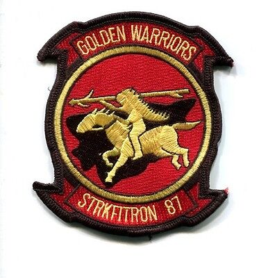 VFA-87 GOLDEN WARRIORS US NAVY BOEING F-18 HORNET Fighter Squadron Jacket Patch