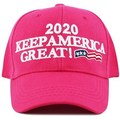 The Hat Depot Exclusive Keep America Great Cap Trump 2020- Hot Pink