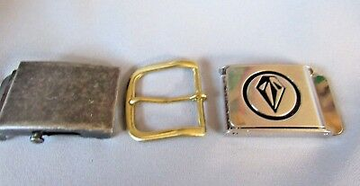 Belt Buckles Assorted Styles Lot Of 3  Collectible  Buckle