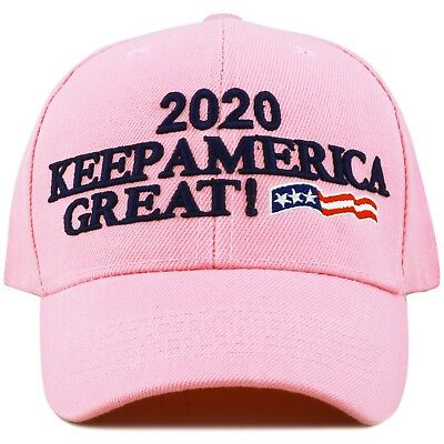 The Hat Depot Exclusive Keep America Great Cap Trump 2020- Lt. Pink