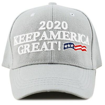 The Hat Depot Exclusive Keep America Great Cap Trump 2020- Lt. Grey