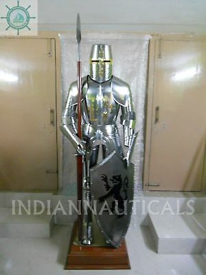 Medieval Knight Suit of Armor 15th Century Combat Full Body Armour shield X-Mas