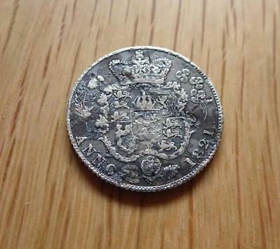 George Iiii Silver Sixpence 1821 Detector Find Great Britain Uk