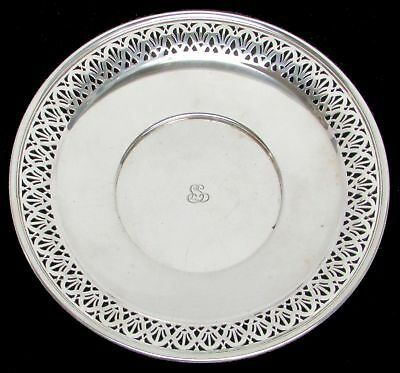 "Vintage 1914 Tiffany & Co Sterling Silver Reticulated 10 1/2"" Cake Plate"