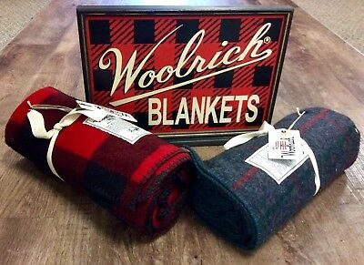 WOOLRICH advertising counter sign two sided Woolrich Blankets