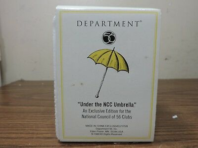 Dept 56 UNDER THE NCC UMBRELLA Yellow 1999 Dickens Village #02100