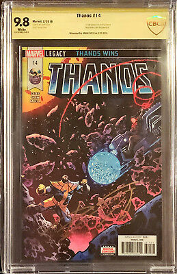 Thanos 14 CBCS SS 9.8 Signed by Donny Cates Cosmic Ghost Rider 1st Printing