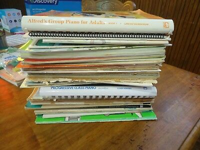 Huge lot of 54 Piano Music Books and Lessons: Music in Me, Alfred's, Christmas