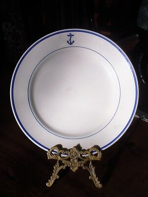 """MAYER China US Navy Mess Wardroom Officer Fouled Anchor 9-5/8"""" solo PLATE"""