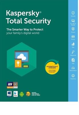 Kaspersky Total Security 1 Device PC User 1YR 2019 Global All world
