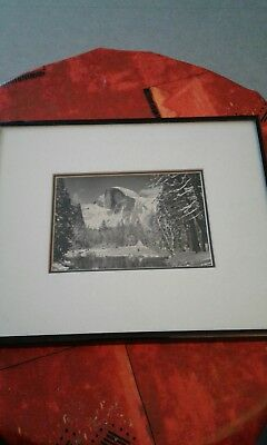 Ansel adams half dome photo reproduction 1992 10x12 pictures plus cadre