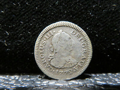 1772 FM 1/2 Reales Silver Coin