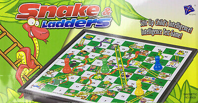 Snakes & Ladders OR Ludo Traditional Travel Family Board Game Kid Adult 18x18cm