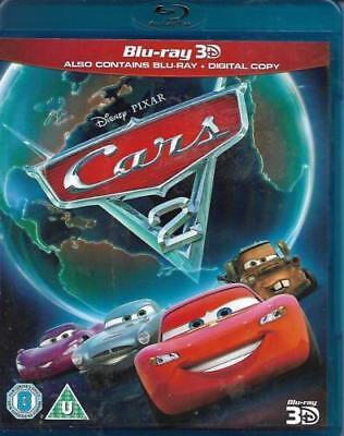 Cars 2 (3D Blu-ray, 2011, 3-Disc Set)