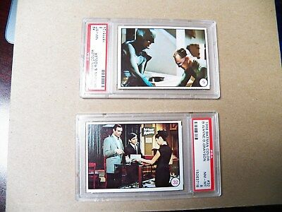 1966 Topps Lot Of 2 Batman Color Cards #9 & 32 Psa 8 Nm/mint(Nq) Real Nice