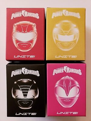 POWER RANGERS UNITE Loot Crate 2017 Exclusive Set of 4 - Red Yellow Black Pink