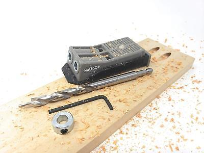 Pocket Hole Jig Set System. Drill Bit,Stop Collar and Hex Key Included.