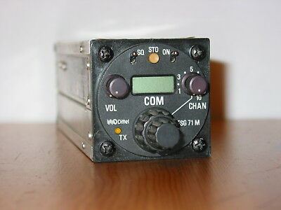 Dittel Fsg-71M Comm Radio With Airworthiness Certificate !! Nice Vhf Transceiver