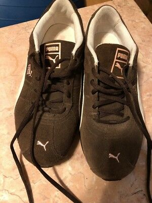 7443c40ed67e41 Womens PUMA Turin running shoes - size 8.5 ~ Brown White Pink
