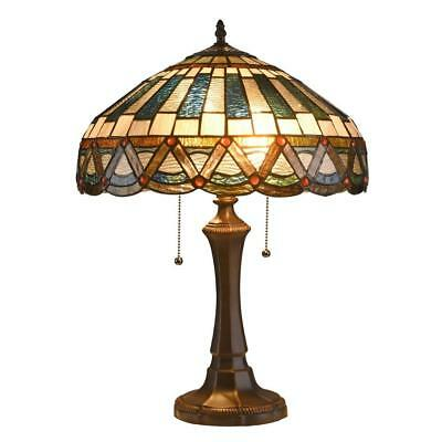 Stained Glass Mission Style 2 Light Table Lamp Chloe Lighting CH3T033CM16-TL2