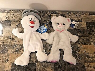 NEW (READ LISTING) Build a Bear Frosty the Snowman and Pawrincess UNSTUFFED 2005