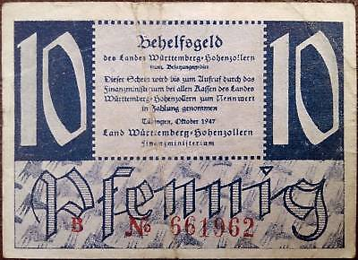 Germany banknote - 10 pfennig - year 1947 - emergency note - free shipping
